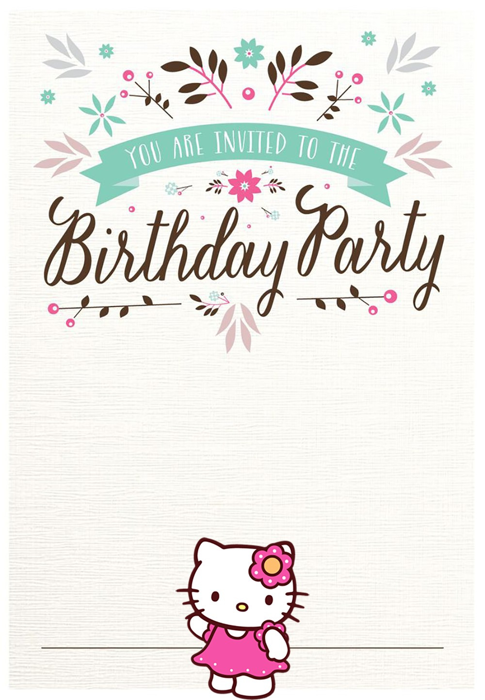Best ideas about Invitation For Birthday Party . Save or Pin Hello Kitty Free Printable Invitation Templates Now.