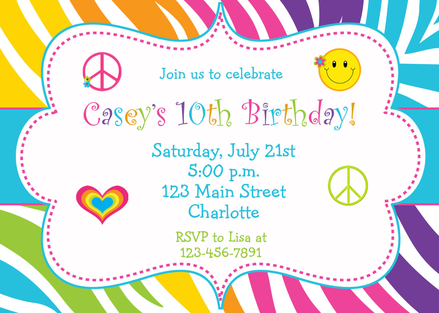 Best ideas about Invitation For Birthday Party . Save or Pin 5 Several Different Birthday Invitation Maker Now.