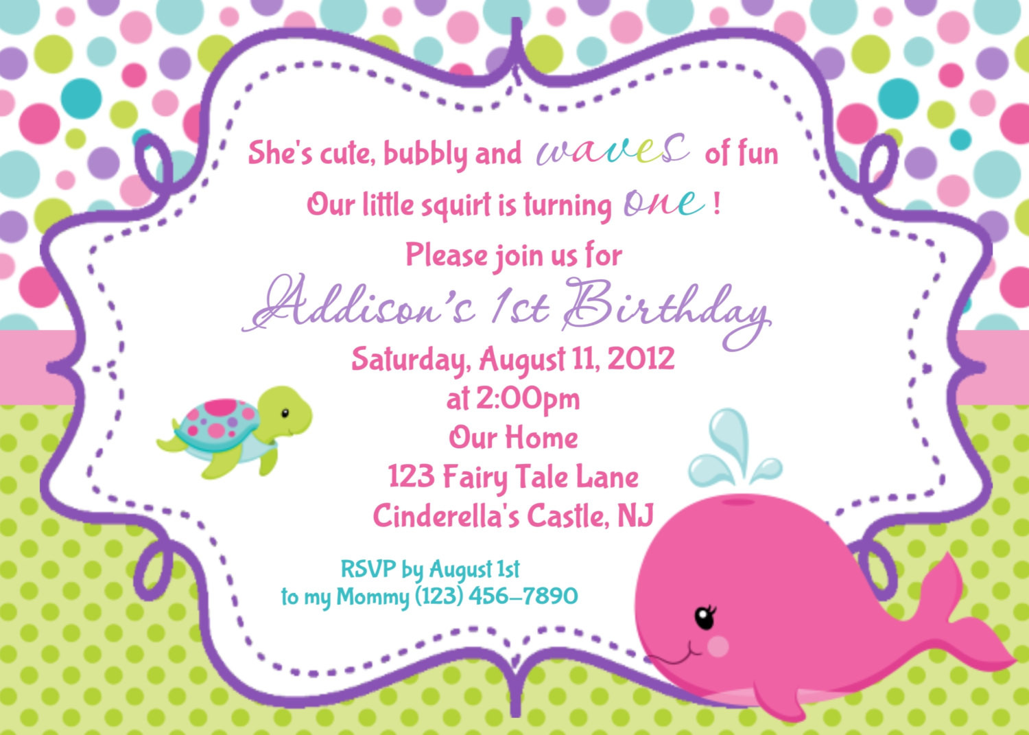 Best ideas about Invitation For Birthday Party . Save or Pin Pink Whale Birthday Invitation Personalized Custom Whale Now.
