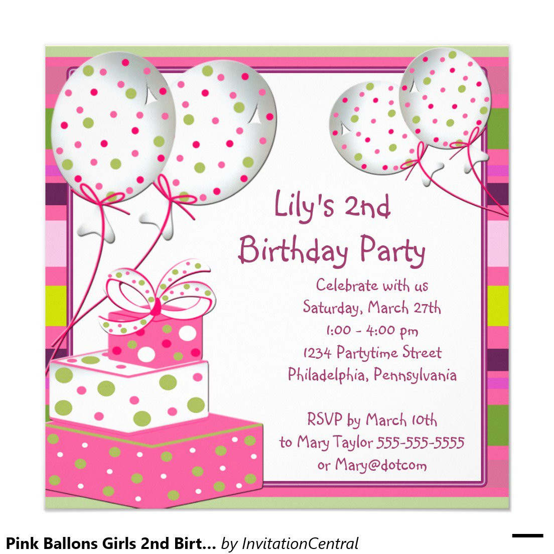 Best ideas about Invitation For Birthday Party . Save or Pin Birthday Party Invitation Card Now.