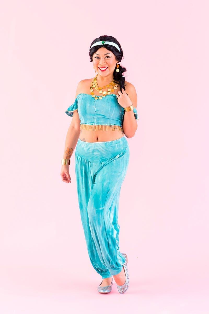 Best ideas about Jasmine DIY Costume . Save or Pin DIY Jasmine from Aladdin Halloween Costume Now.