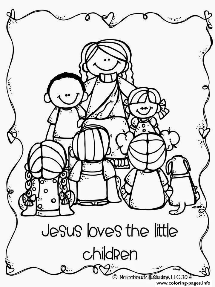 Best ideas about Jesus Coloring Pages For Kids Printable . Save or Pin Jesus Loves The Little Children Coloring Pages Printable Now.