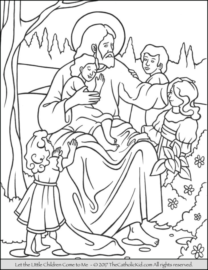 Best ideas about Jesus Coloring Pages For Kids Printable . Save or Pin The Catholic Kid Catholic Coloring Pages and Games for Now.