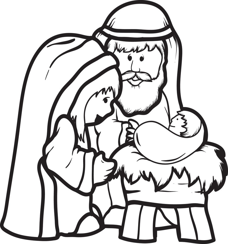 Best ideas about Jesus Coloring Pages For Kids Printable . Save or Pin FREE Printable Mary Joseph & Baby Jesus Coloring Page Now.