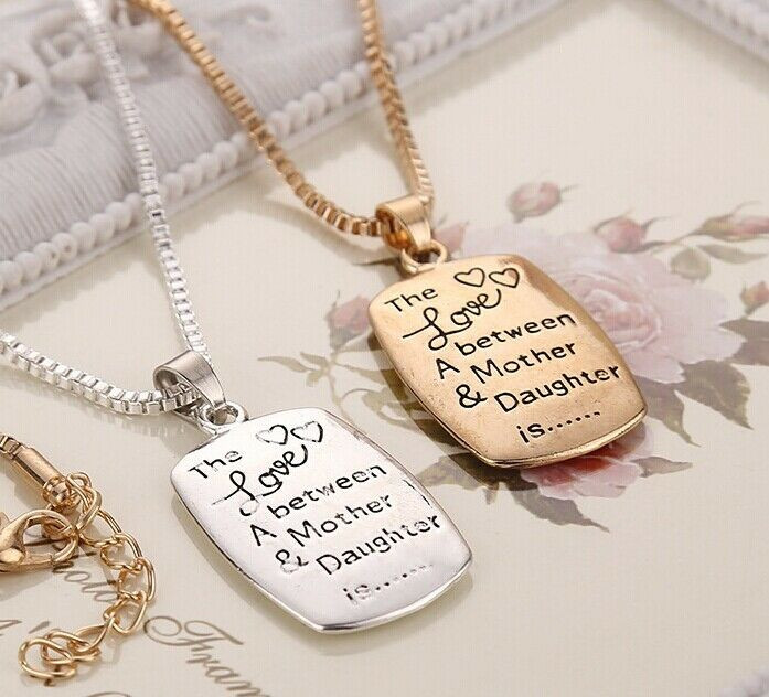 """Best ideas about Jewelry Gift Ideas . Save or Pin Wholesale Mom Daughter Necklace """"The Love between A Mother Now."""