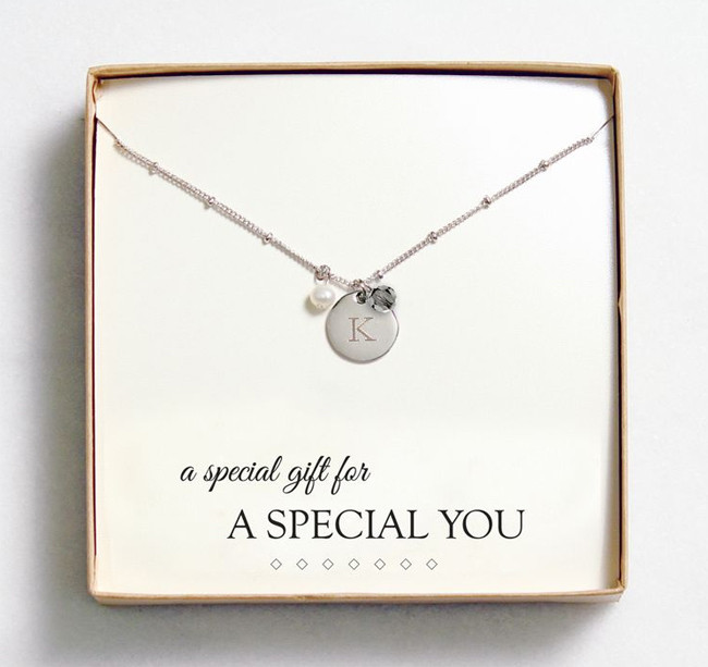 Best ideas about Jewelry Gift Ideas . Save or Pin Bridesmaid Gift Idea Customizable Jewelry from Wedding Now.