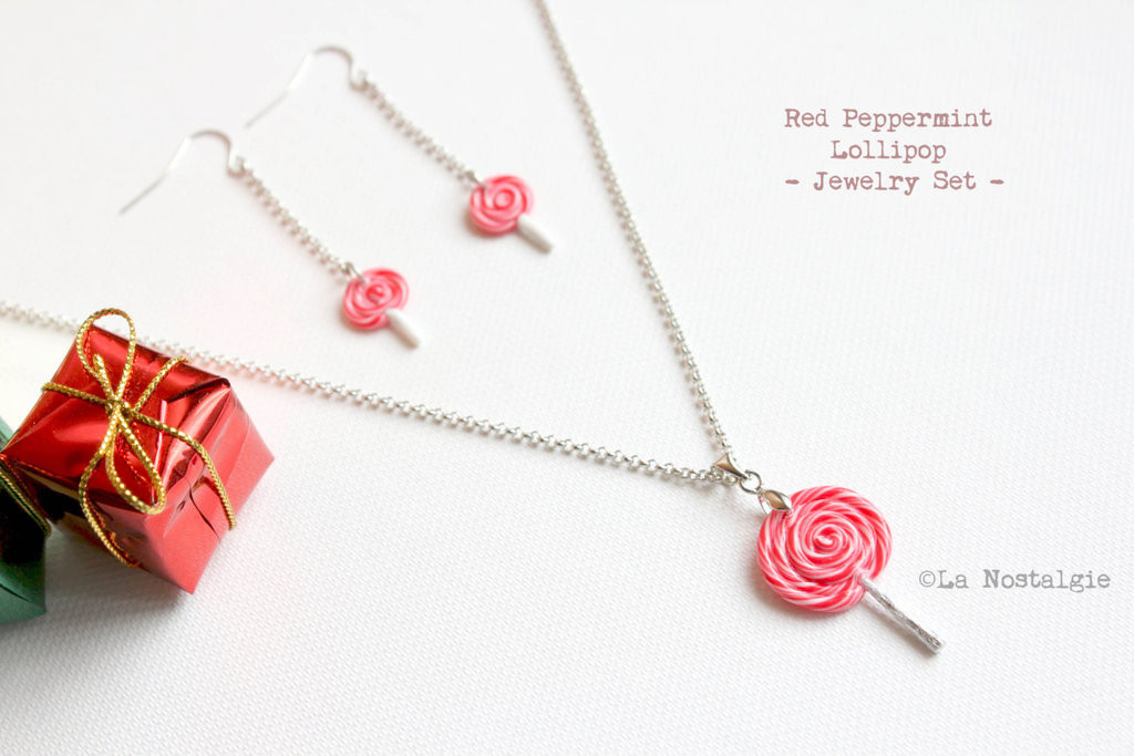 Best ideas about Jewelry Gift Ideas . Save or Pin Christmas Gift Ideas Red Peppermint Jewelry Set by Now.