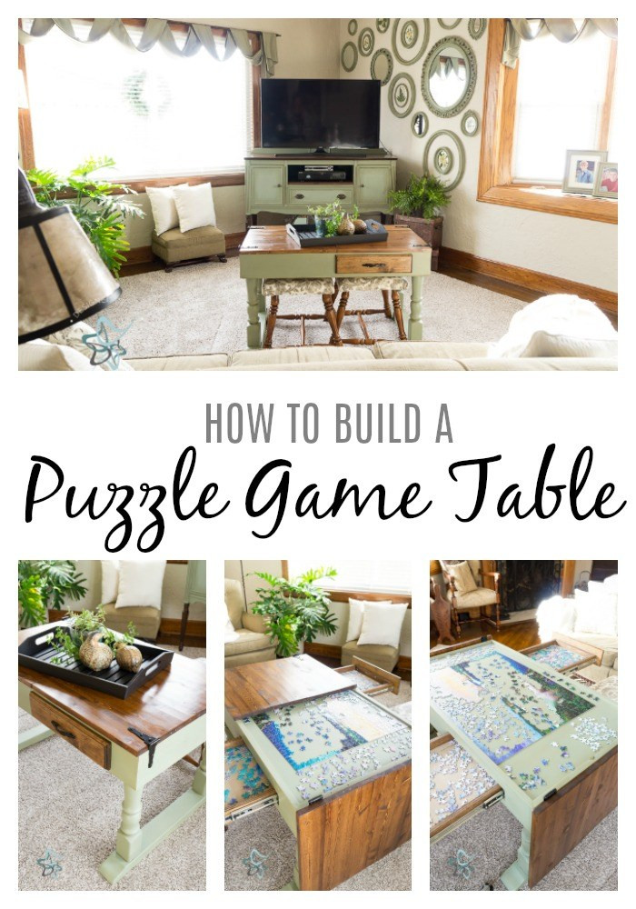 Best ideas about Jigsaw Table DIY . Save or Pin DIY Puzzle Game Table Designed Decor Now.