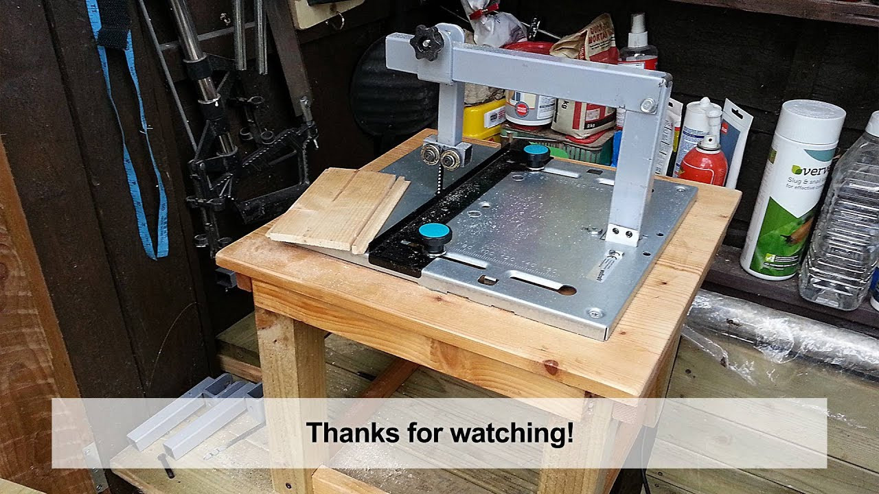 Best ideas about Jigsaw Table DIY . Save or Pin Home Made DIY Jigsaw Table with Blade Guide Now.