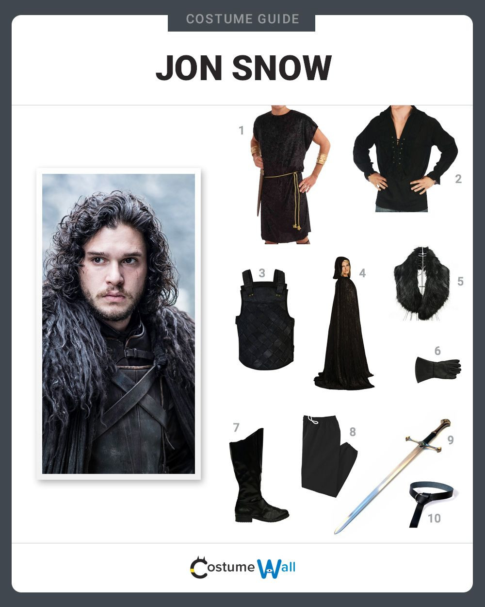 Best ideas about Jon Snow DIY Costume . Save or Pin Dress Like Jon Snow Costume and Cosplay Guide Now.