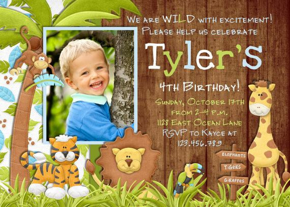 Best ideas about Jungle Theme Birthday Invitations . Save or Pin 17 Safari Birthday Invitations Design Templates Free Now.
