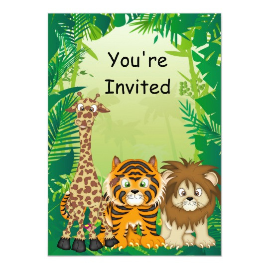 Best ideas about Jungle Theme Birthday Invitations . Save or Pin Jungle Theme Birthday Invitations Now.