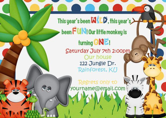 Best ideas about Jungle Theme Birthday Invitations . Save or Pin Jungle theme birthday invitation Now.