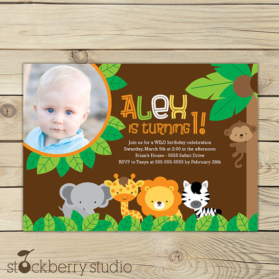 Best ideas about Jungle Theme Birthday Invitations . Save or Pin Jungle Safari Birthday Invitation Printable Jungle Party Now.