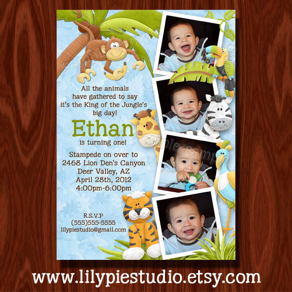 Best ideas about Jungle Theme Birthday Invitations . Save or Pin King of the Jungle Birthday Invitation and Thank You Now.