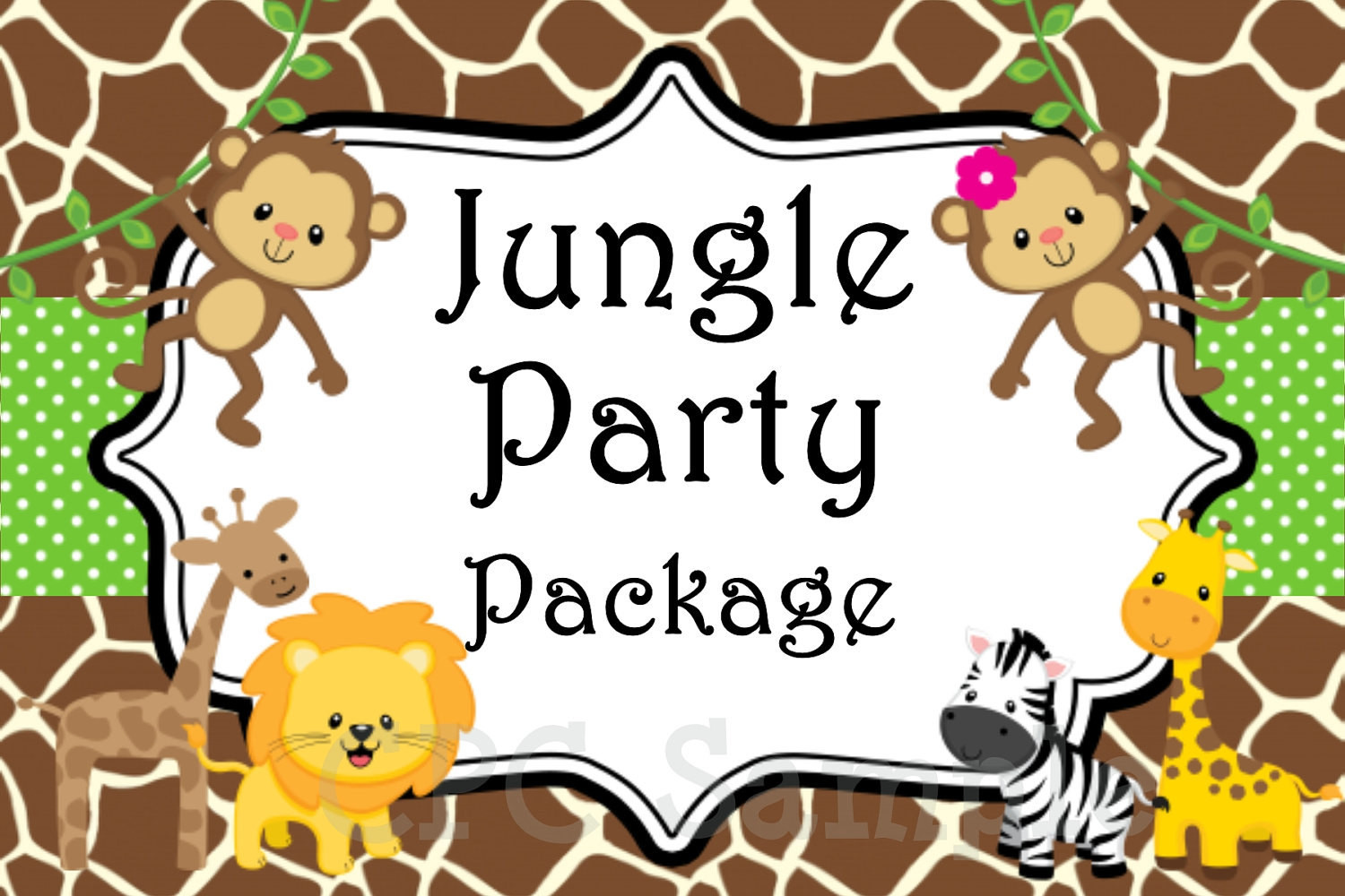 Best ideas about Jungle Theme Birthday Invitations . Save or Pin Jungle Safari Birthday Party Invitation by Now.