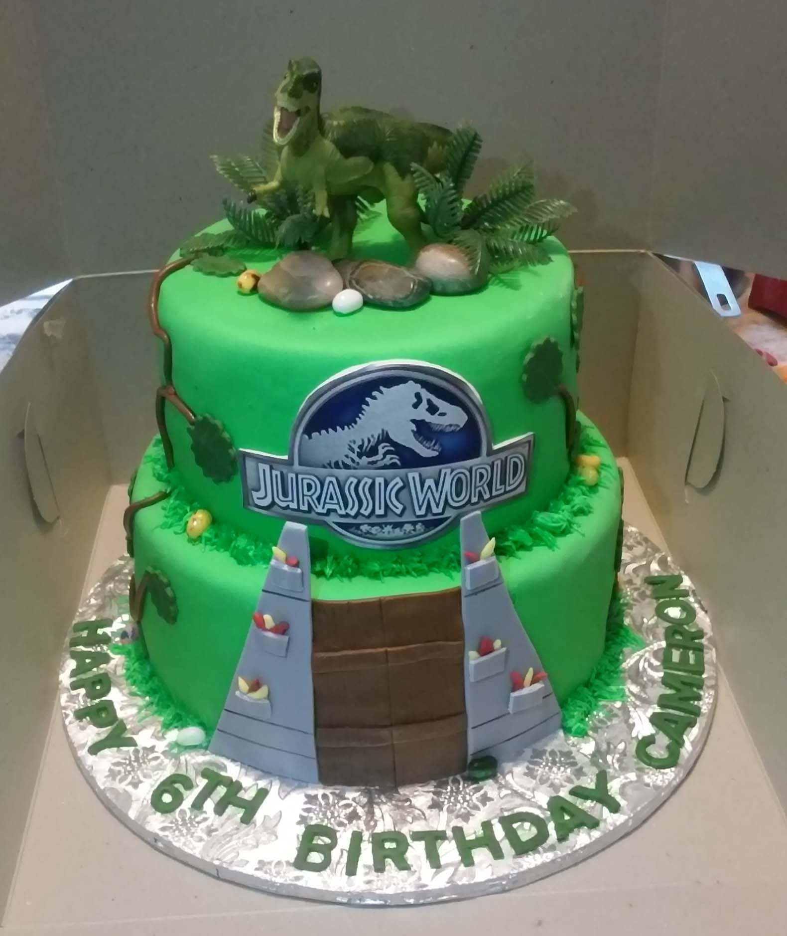 Best ideas about Jurassic World Birthday Cake . Save or Pin 2 Tier Jurassic World Themed Birthday Cake CakeCentral Now.