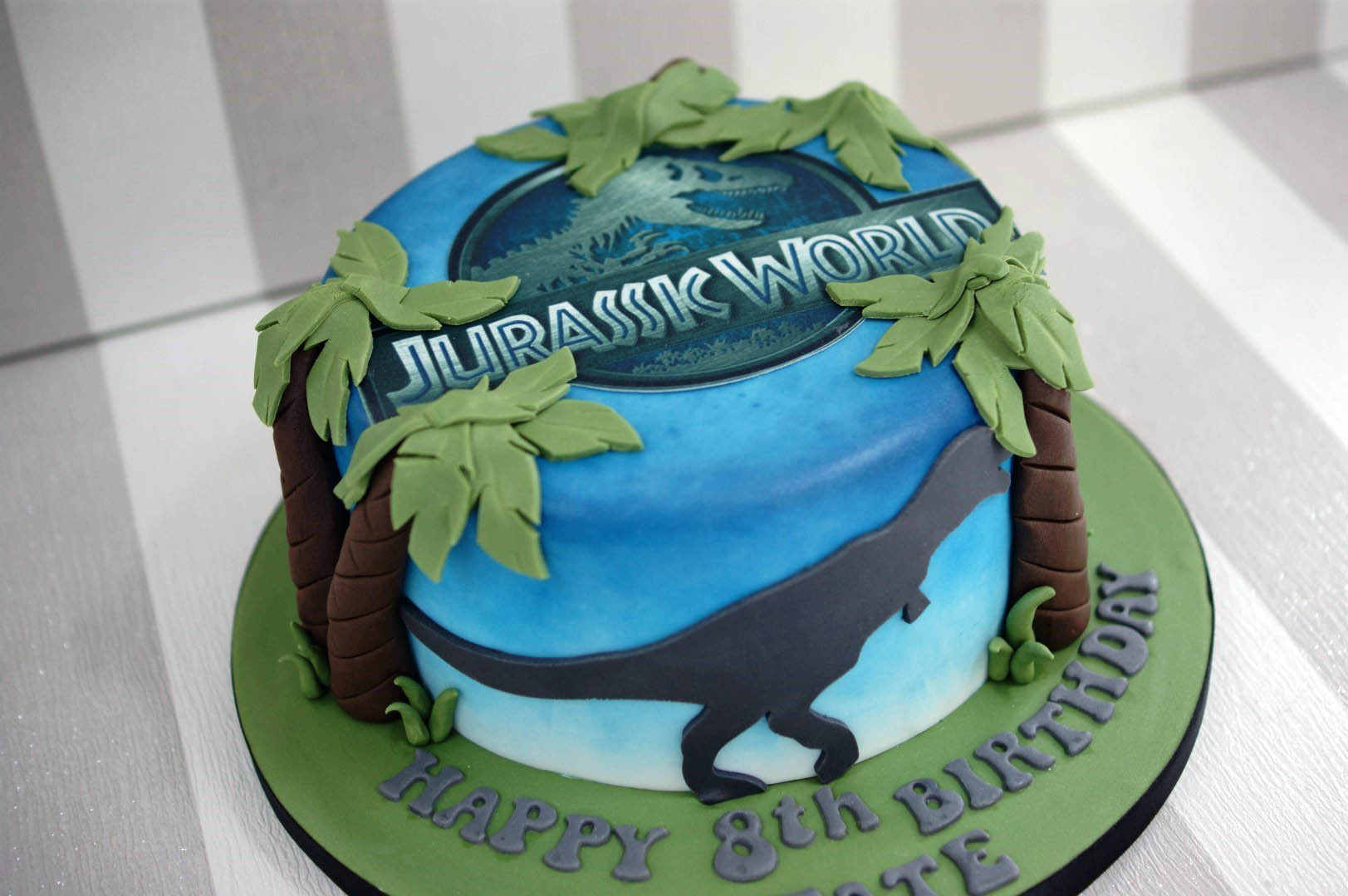 Best ideas about Jurassic World Birthday Cake . Save or Pin Jurassic World 8th Birthday Cake Bakealous Now.