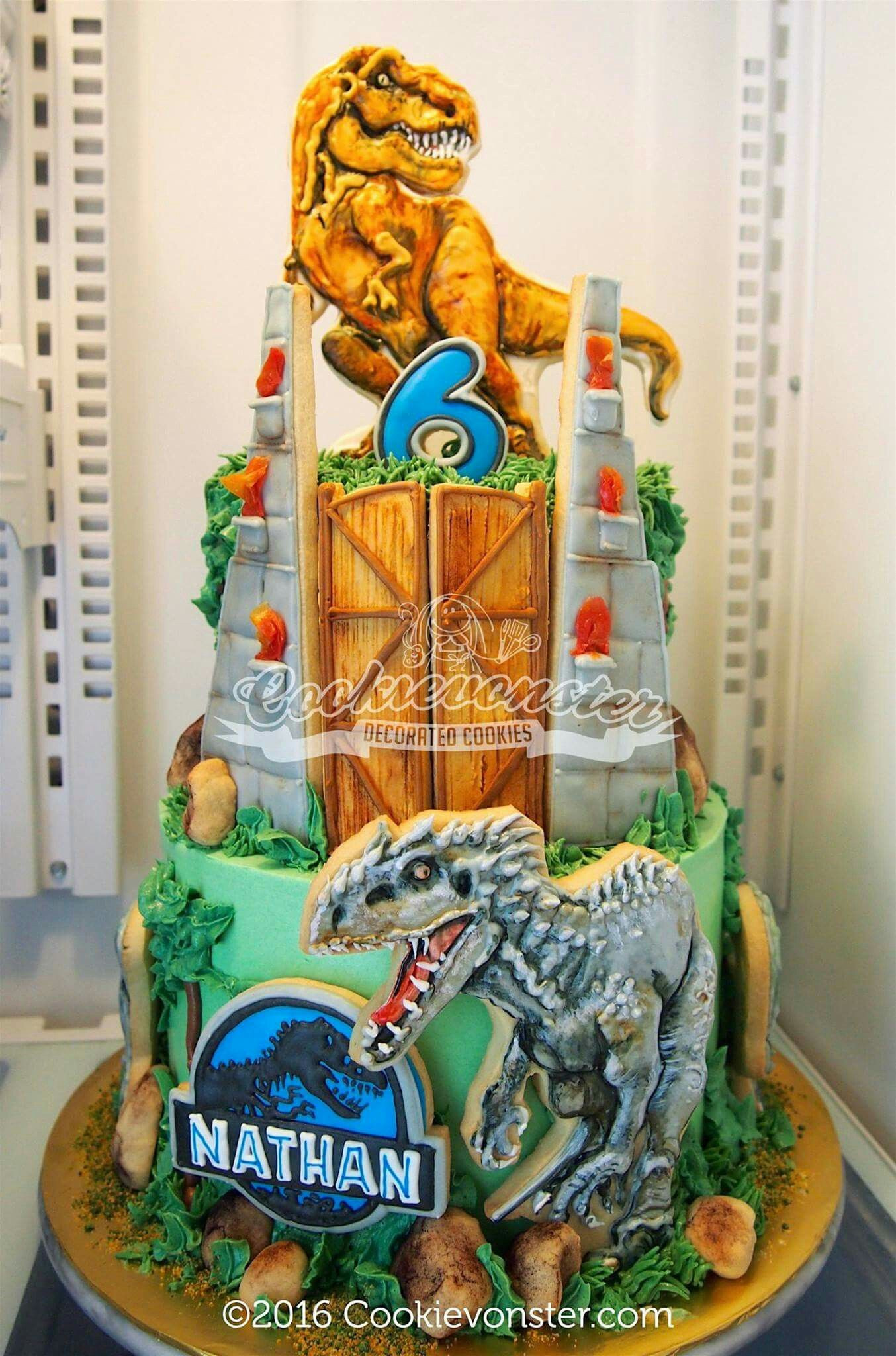 Best ideas about Jurassic World Birthday Cake . Save or Pin Jurassic World Cookie Cake Now.