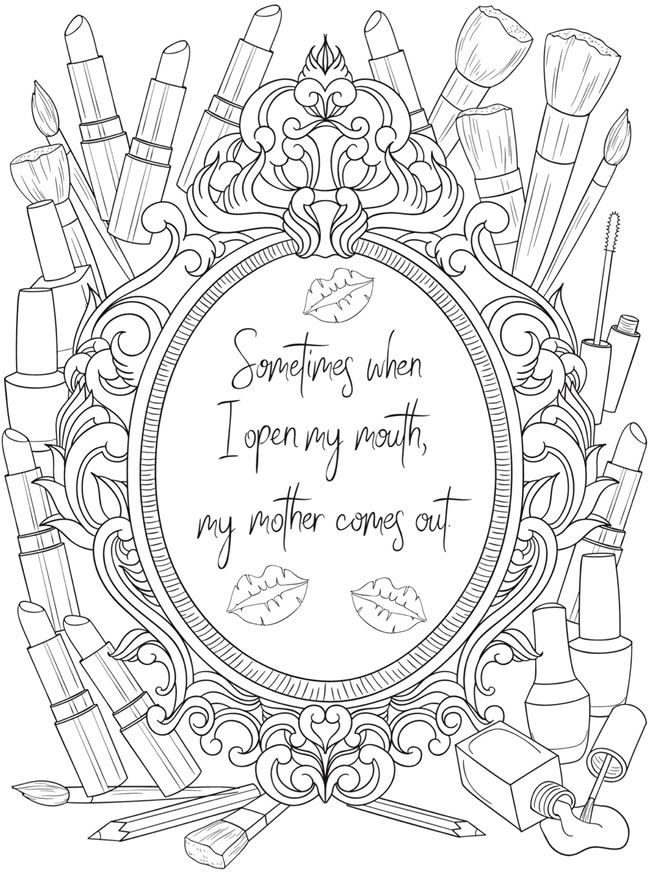 Best ideas about Kailyn Lowry'S Hustle And Heart Adult Coloring Book . Save or Pin Creative Haven First My Mother Forever My Friend Coloring Now.