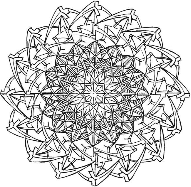 Best ideas about Kaleidoscope Printable Coloring Pages . Save or Pin Creative Haven Kaleidoscope Designs Coloring Book Wel e Now.