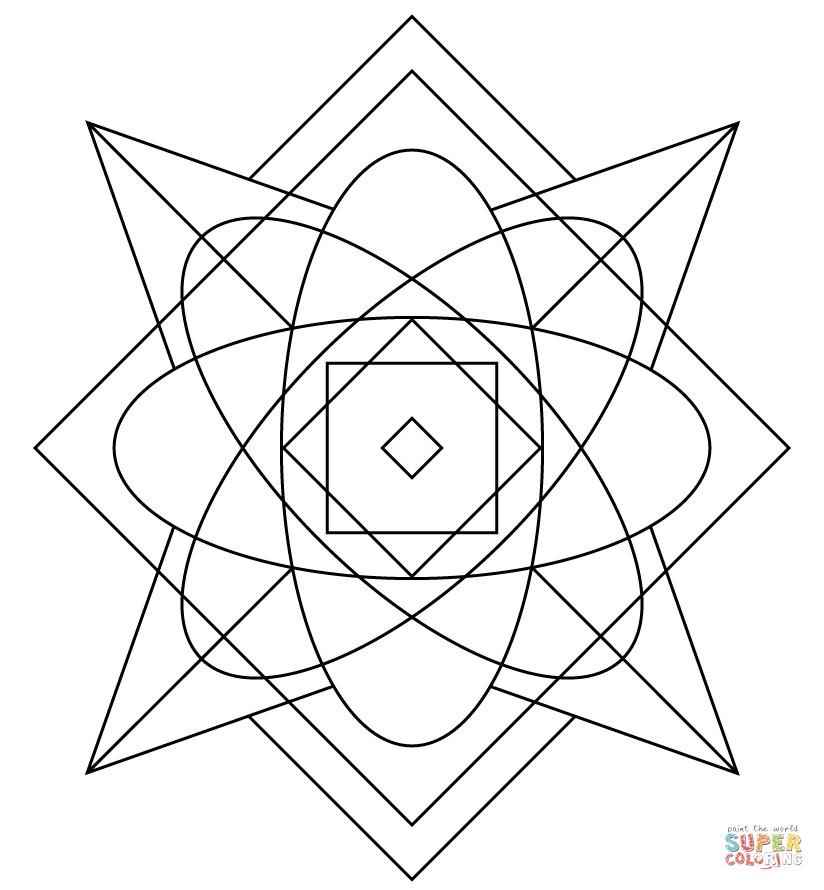 Best ideas about Kaleidoscope Printable Coloring Pages . Save or Pin Kaleidoscope coloring page Now.
