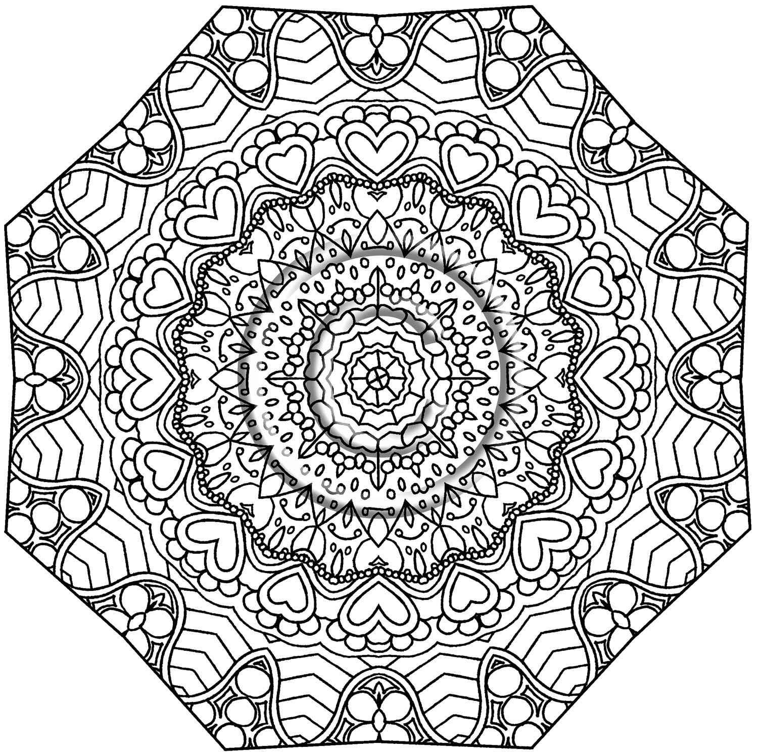 Best ideas about Kaleidoscope Printable Coloring Pages . Save or Pin Kaleidoscope Coloring Pages Bestofcoloring Now.