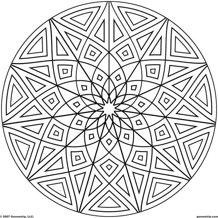 Best ideas about Kaleidoscope Printable Coloring Pages . Save or Pin Kaleidoscope Coloring Pages Coloring Home Now.