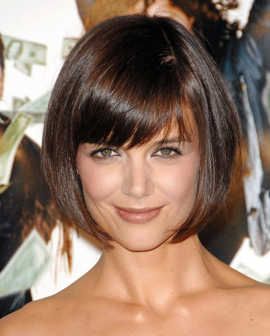 Best ideas about Katie Holmes Bob Hair Cut . Save or Pin Celebrity Hairstyles Katie Holmes Bob Dark Brown Now.