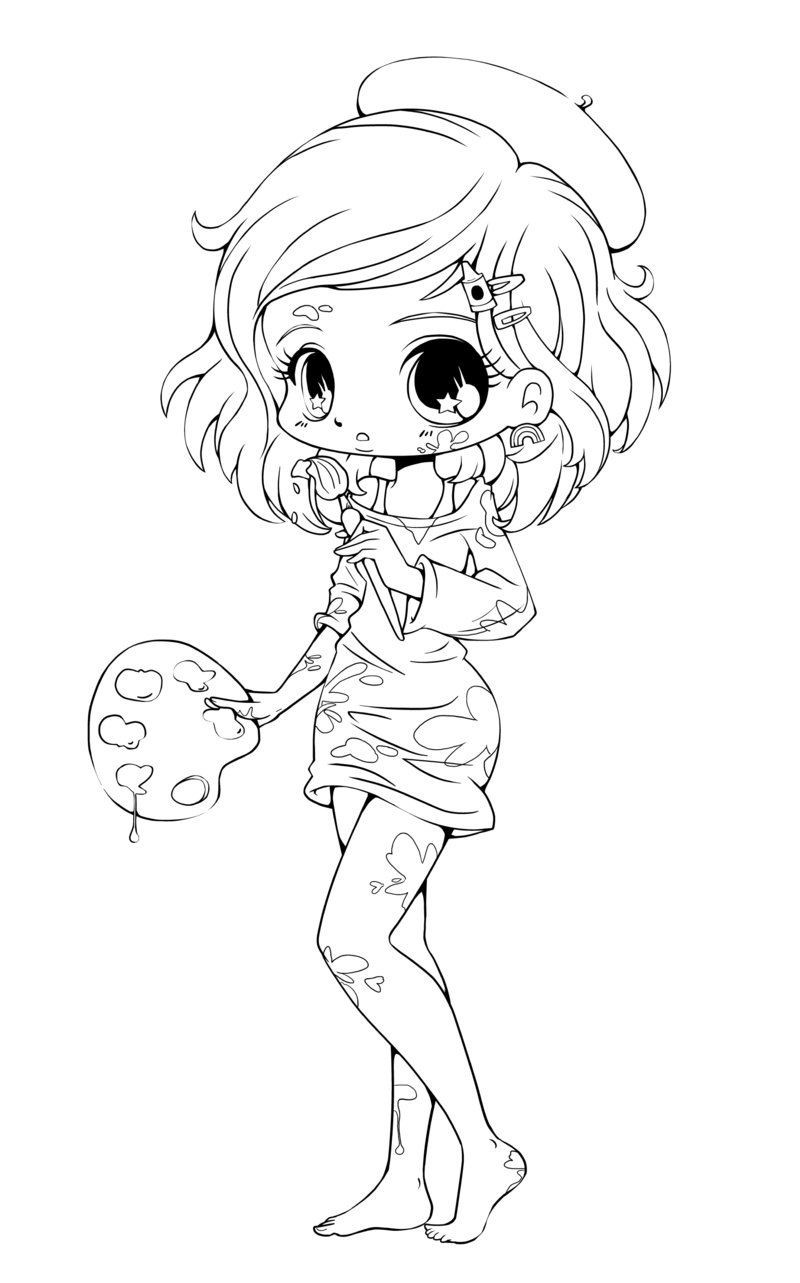 Best ideas about Kawaii Printable Coloring Pages For Girls . Save or Pin Free Printable Chibi Coloring Pages For Kids Now.