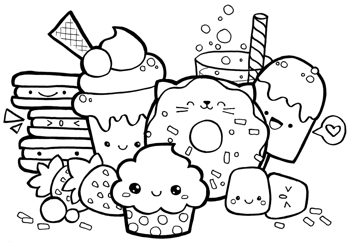 Best ideas about Kawaii Printable Coloring Pages For Girls . Save or Pin Kawaii Coloring Pages Best Coloring Pages For Kids Now.