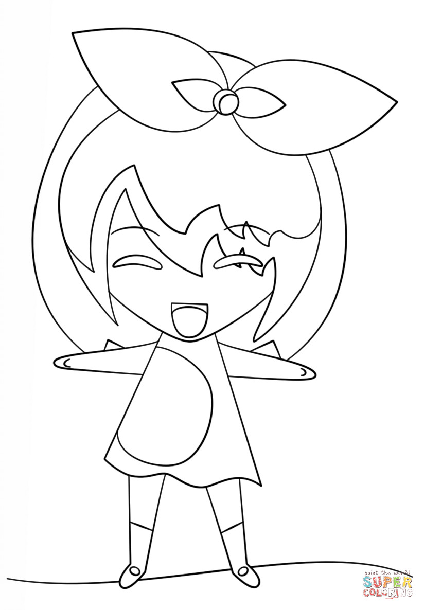 Best ideas about Kawaii Printable Coloring Pages For Girls . Save or Pin Kawaii Girl coloring page Now.