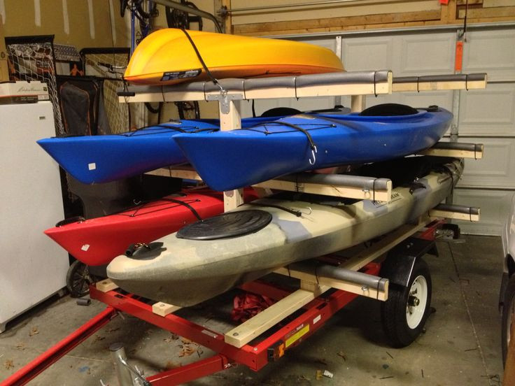 Best ideas about Kayak Rack For Trailer DIY . Save or Pin Homemade Kayak Trailer Rack Fishing Now.