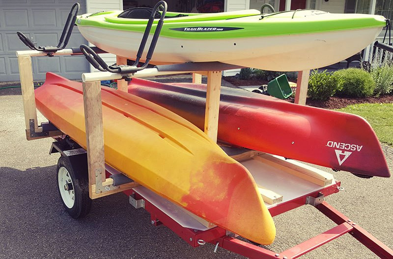 Best ideas about Kayak Rack For Trailer DIY . Save or Pin The DIY Kayak Trailer That Saves Your Back and Bud Now.