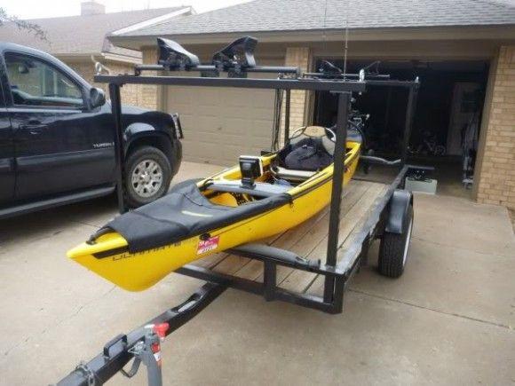 Best ideas about Kayak Rack For Trailer DIY . Save or Pin Image result for bike kayak trailer Trailer Now.