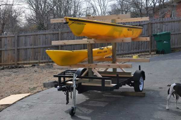 Best ideas about Kayak Rack For Trailer DIY . Save or Pin October 2016 Now.