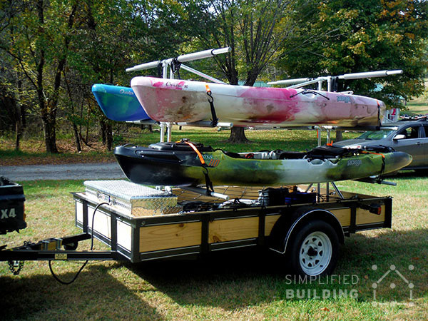 Best ideas about Kayak Rack For Trailer DIY . Save or Pin Build Your Own Kayak Trailer Utility Trailer Conversion Now.