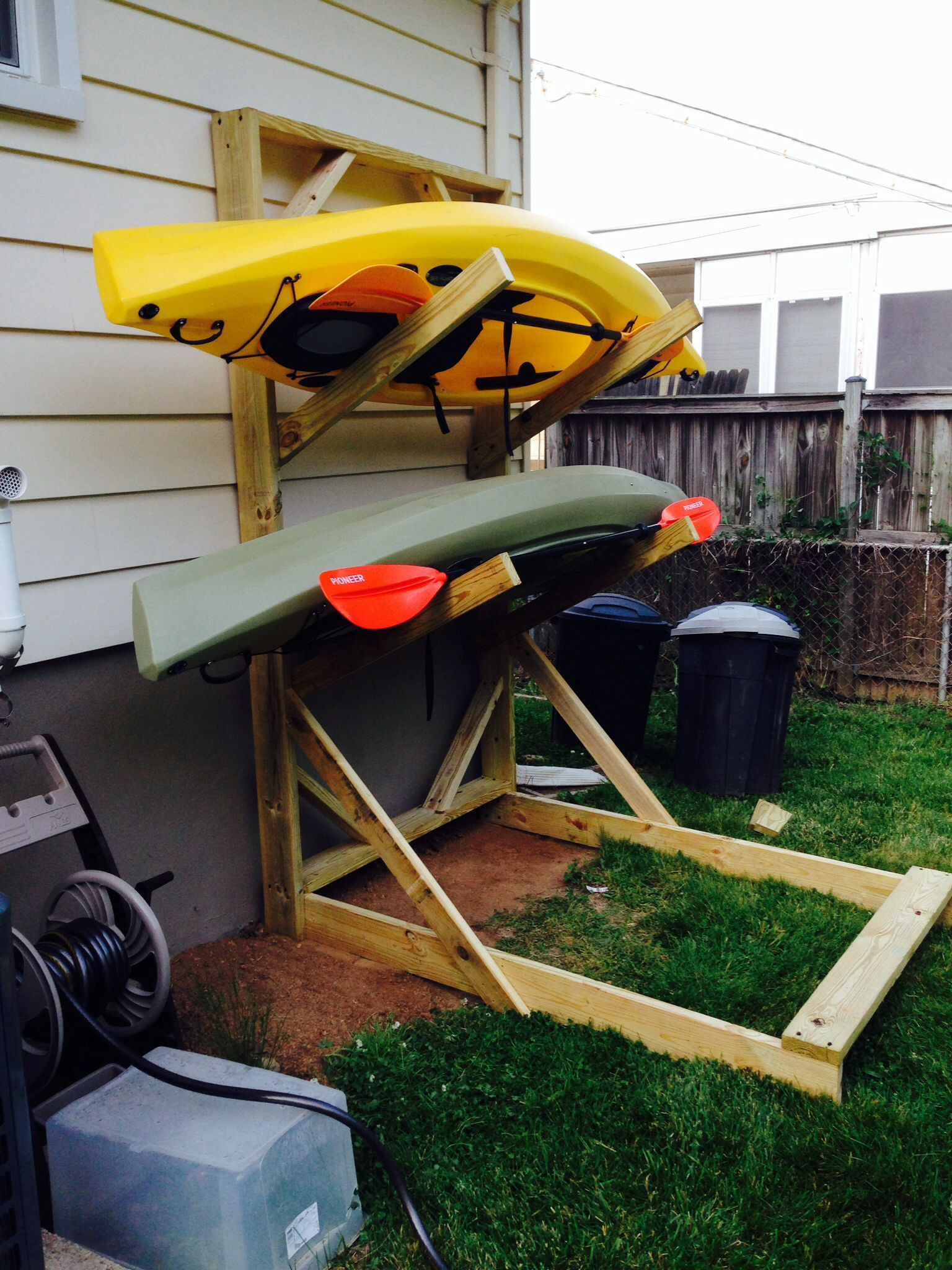 Best ideas about Kayak Storage Rack DIY . Save or Pin plete Diy outdoor canoe storage rack J Bome Now.