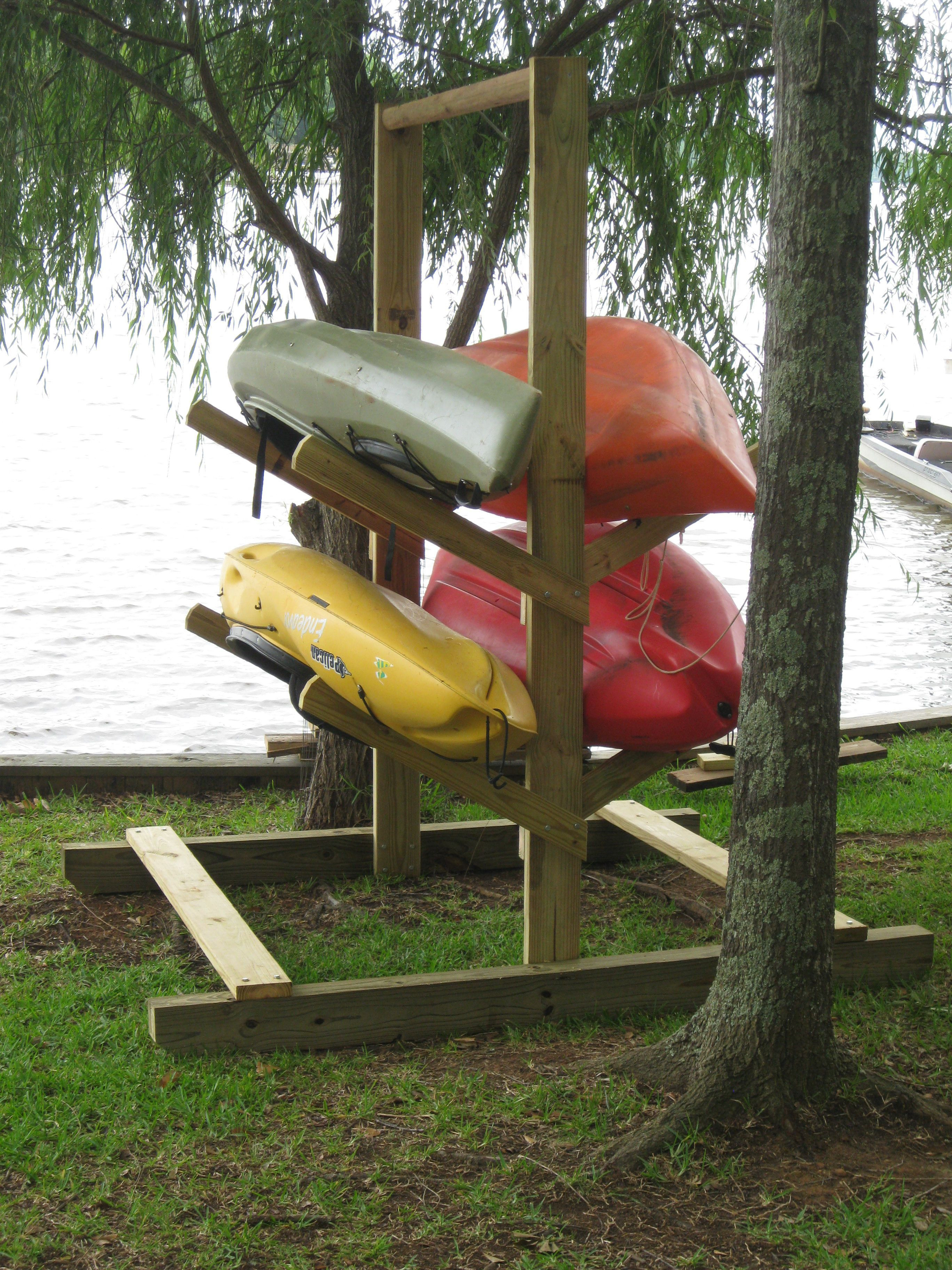 Best ideas about Kayak Storage Rack DIY . Save or Pin Homemade kayak rack For the Home Now.