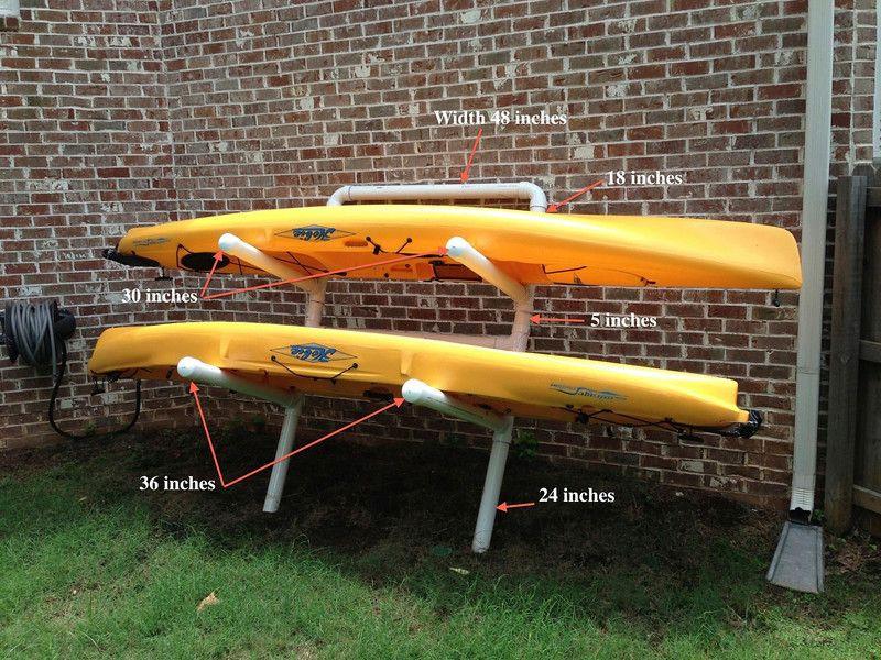 Best ideas about Kayak Storage Rack DIY . Save or Pin Kayak Rack on Pinterest Now.