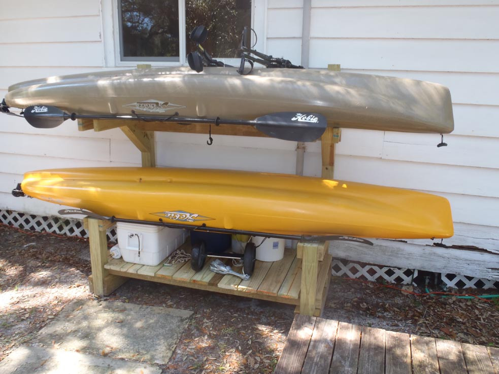 Best ideas about Kayak Storage Rack DIY . Save or Pin how do you store your kayak at home Pensacola Fishing Forum Now.