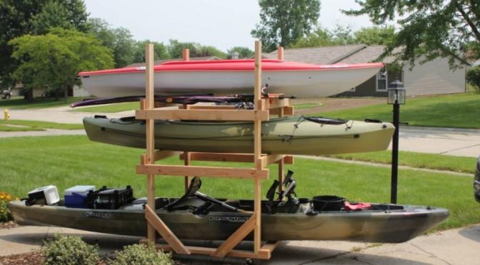 Best ideas about Kayak Storage Rack DIY . Save or Pin DIY Rolling Kayak Storage Rack 2x4s and caster wheels Now.