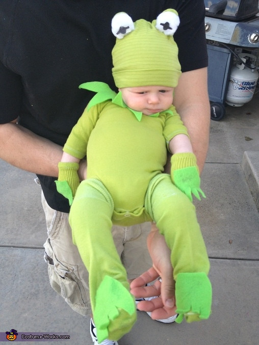 Best ideas about Kermit The Frog Costume DIY . Save or Pin Kermit the Frog DIY Baby Costume 2 5 Now.