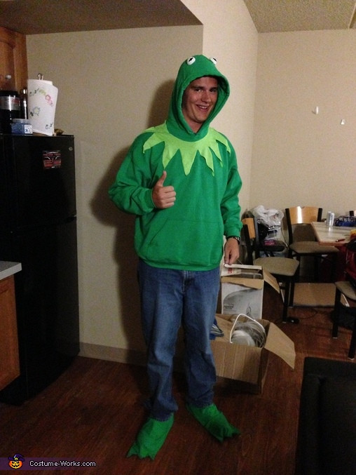 Best ideas about Kermit The Frog Costume DIY . Save or Pin Kermit the Frog Homemade Halloween Costume 2 3 Now.