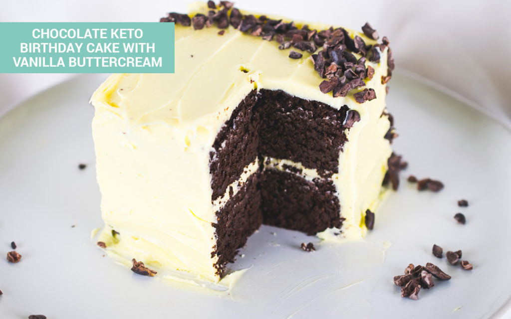 Best ideas about Keto Birthday Cake . Save or Pin Chocolate Keto Cake With Vanilla Buttercream Perfect Now.