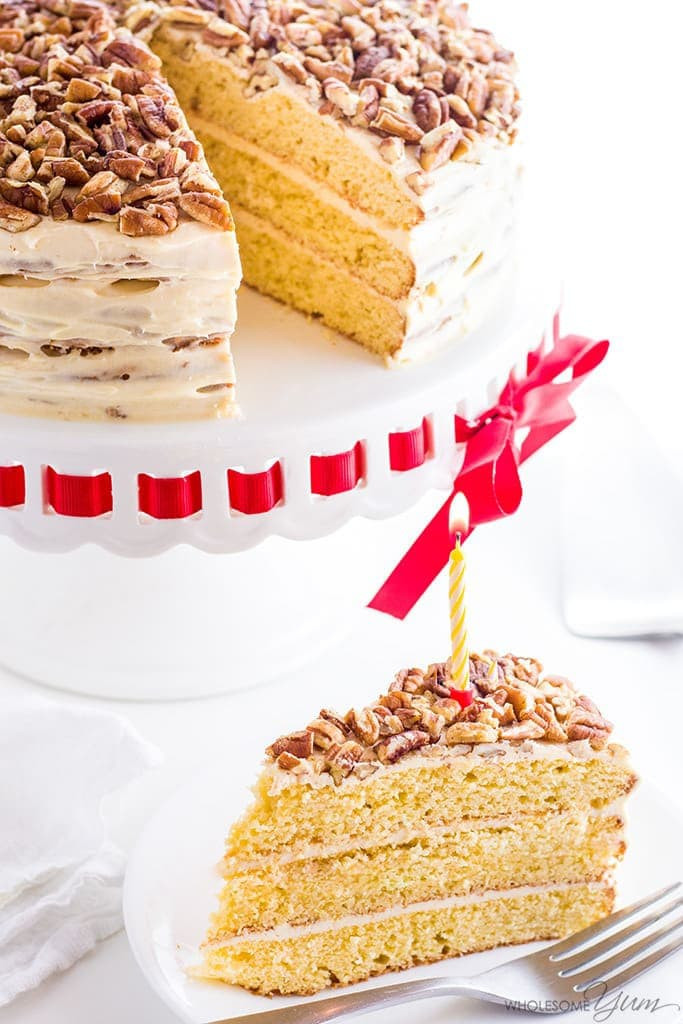 Best ideas about Keto Birthday Cake . Save or Pin Vanilla Gluten Free Keto Birthday Cake Recipe Sugar Free Now.