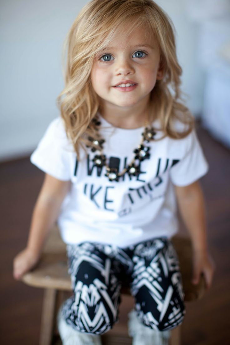 Best ideas about Kid Hairstyles Girls . Save or Pin Casual girl style child session style Now.