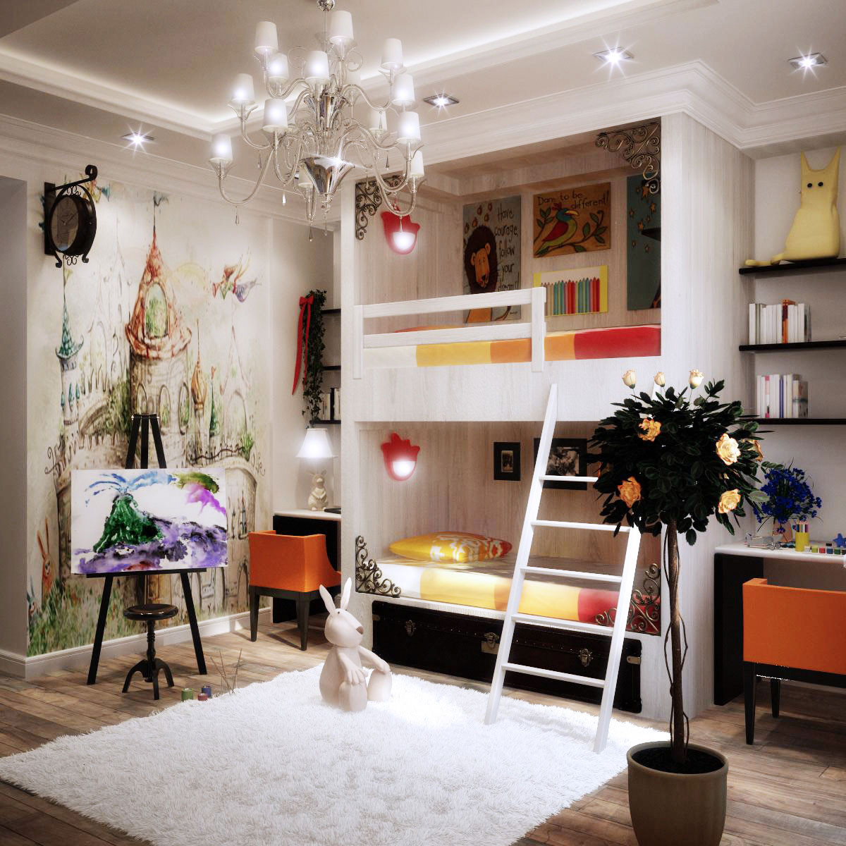Best ideas about Kids Bedroom Ideas . Save or Pin Colorful Kids Rooms Now.