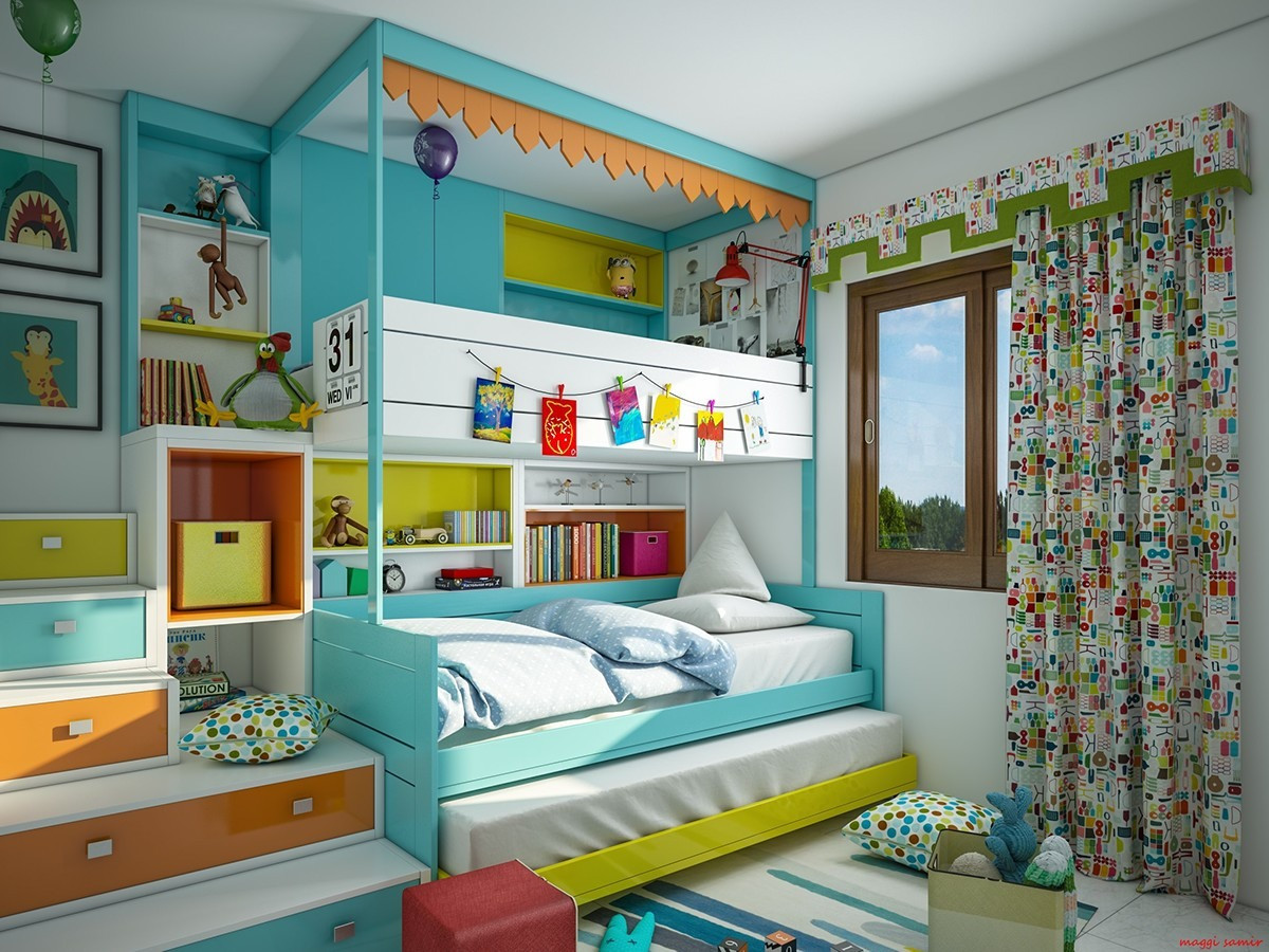 Best ideas about Kids Bedroom Ideas . Save or Pin Super Colorful Bedroom Ideas for Kids and Teens Now.