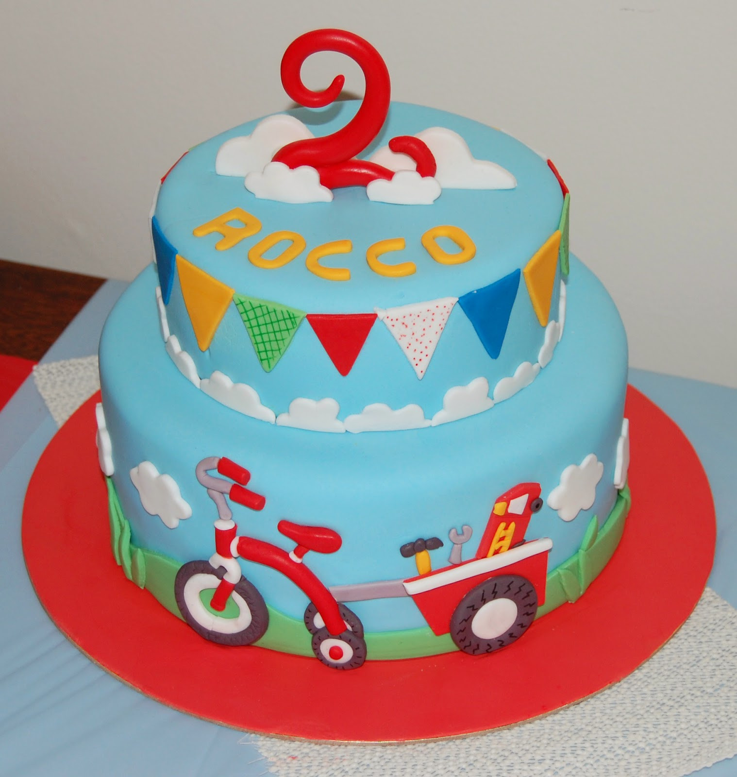 Best ideas about Kids Birthday Cake . Save or Pin butter hearts sugar Tricycle Birthday Cake Now.